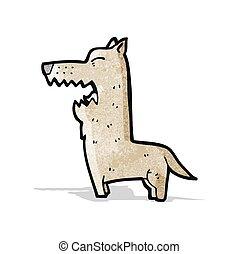 cartoon angry dog
