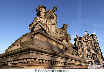 Boer War Memorial, North Bridge, Edinburgh - Memorial on...