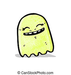 cartoon gree ghost - cartoon green ghost