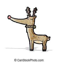 cartoon rudolf red nosed reindeer