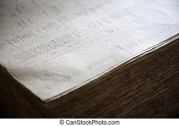 Old financial report - Book grootboek used by Nederlandse...