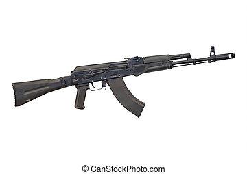 submachine gun under the white background