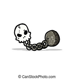 dungeon skull cartoon