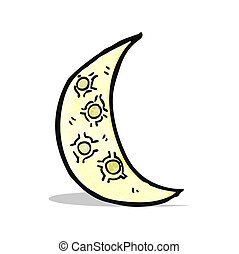 cartoon crescent moon