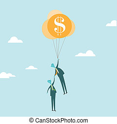Business Rescue Concept - Vector illustration of a...