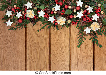 Christmas Frame - Christmas background border with...