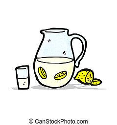cartoon lemonade