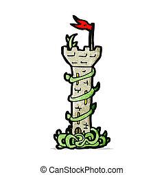 cartoon fairytale tower
