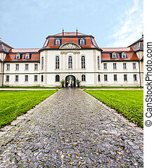 castle Fasanerie in Fulda - FULDA, GERMANY - SEP 21, 2014:...