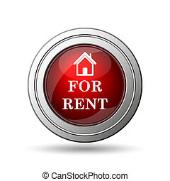 For rent icon. Internet button on white background.