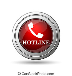 Hotline icon. Internet button on white background.