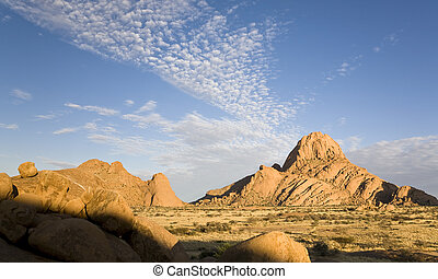 Spitzkoppe - Group of granite peaks, Namib desert, Republic...