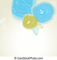 Festive floral background, abstract cute flowers vector