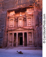 Petra in Jordan - The old city of Petra in Jordan was carved...
