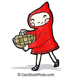cartoon little red riding hood