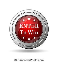 Enter to win icon Internet button on white background
