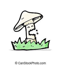cartoon toadstool