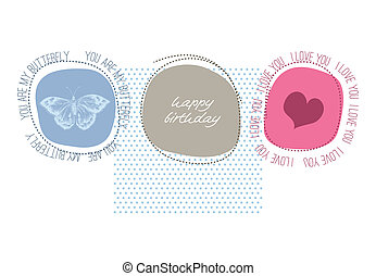Cute happy birthday card with love message