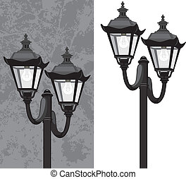 Street lantern Vector illustration