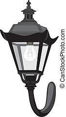 Wall street lantern. Vector illustration