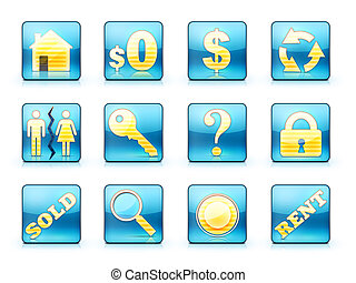 Real Estate Icon Set - Icon Set For Real Estate Business