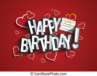 Happy Birthday - Colorful Happy Birthday Greeting Card...