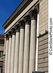 columns on the building