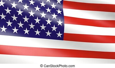 American flag, animation