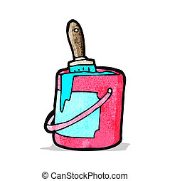 cartoon bright paint can