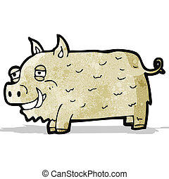 cartoon boar