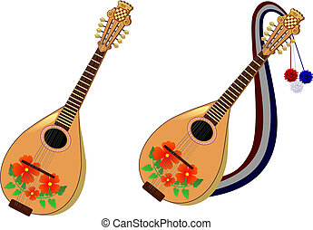 Croatian mandolin set - A traditional Croation mandolin set....