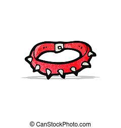 cartoon spiky dog collar