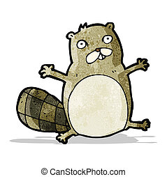 funny cartoon beaver