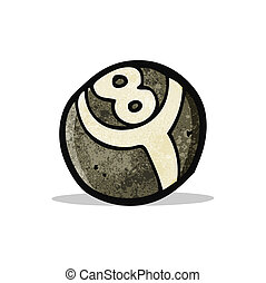 eight ball cartoon