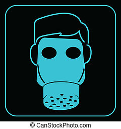 Gas mask-safety equipment symbol