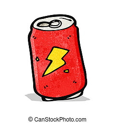cartoon cola can