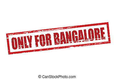 Only for Bangalore - Rubber stamp with text only for...