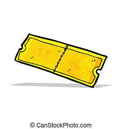 cartoon golden ticket