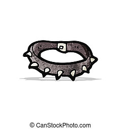 spiky dog collar cartoon