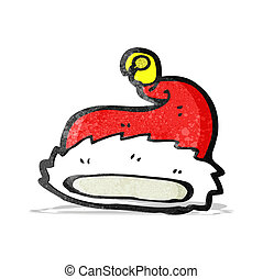 cartoon santa hat