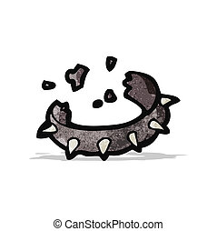 spiky dog collar cartoon