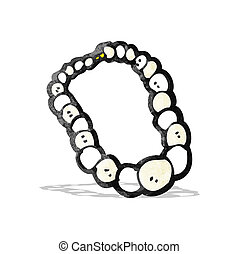 pearl necklace cartoon