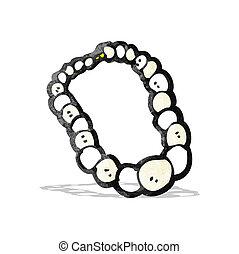 pearl necklace cartoon