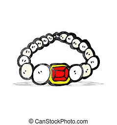 cartoon pearl necklace