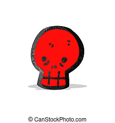 red skull cartoon symbol