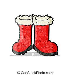 santa,  Claus, caricatura, botas