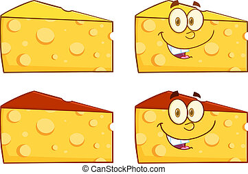 Wedge Of Cheese Cartoon Illustration