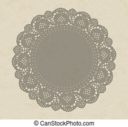 Fancy paper doily, antique shadow effect on textured paper....