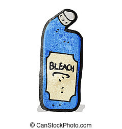 cartoon bleach bottle