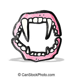 vampire teeth cartoon